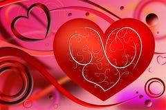 Abstrakcjonistyczny czerwony serce Obrazy Stock