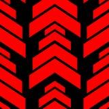 Abstrakcjonistyczny czerwony strzała wzór na czarnego bezszwowego projekta tła nowożytnym wektorze Zdjęcia Stock