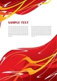 abstrakcjonistyczny czerwony szablon Fotografia Royalty Free