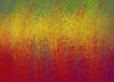 Abstrakcjonistyczny czerwony złota i zieleni tło z błyszczącą grunge teksturą Obrazy Royalty Free