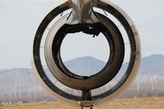Abstrakcjonistyczny Dżetowy silnik z pustynią w tle Zdjęcia Royalty Free
