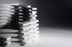 Abstrakcjonistyczny 3D budynku tło Zdjęcie Stock