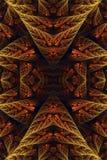 Abstrakcjonistyczny 3d komputer wytwarzał artystycznego starego rocznika fractal wzorów grafiki tło ilustracja wektor