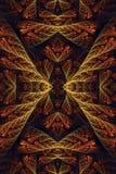 Abstrakcjonistyczny 3d komputer wytwarzał artystyczny unikalnego czuje zażenowanie stary fractal wzorów grafiki tło ilustracja wektor