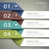 Abstrakcjonistyczny 3d origami papieru infographics ilustracja wektor