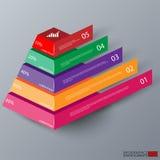 Abstrakcjonistyczny 3d ostrosłupa infographics ilustracja wektor