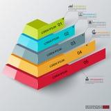 Abstrakcjonistyczny 3d ostrosłupa infographics royalty ilustracja
