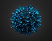 Abstrakcjonistyczny 3D rendering Błękitna Chaotyczna powierzchnia Fotografia Stock