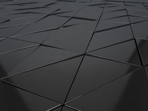 Abstrakcjonistyczny 3d rendering kruszcowi geometryczni panel Obraz Stock