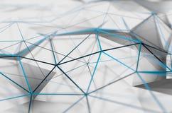 Abstrakcjonistyczny 3D rendering Niska Poli- biel powierzchnia ilustracja wektor