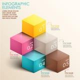 Abstrakcjonistyczny 3d schody infographics