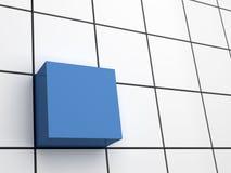 Abstrakcjonistyczny 3d sześcian Zdjęcie Stock