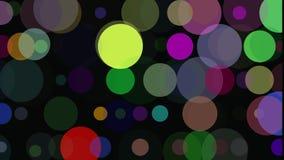 Abstrakcjonistyczny 3d tło: geometryczne powierzchnie, okręgi Makro- Abstrakcjonistyczna animacja royalty ilustracja