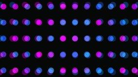 Abstrakcjonistyczny 3d tło: geometryczne powierzchnie, okręgi Makro- Abstrakcjonistyczna animacja ilustracja wektor