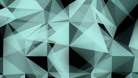Abstrakcjonistyczny 3d tło: Geometryczna powierzchnia w ruchu Makro- Abstrakcjonistyczny animaci Plexus styl ilustracja wektor