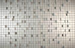 Abstrakcjonistyczny 3D tło popielaci sześciany Obrazy Stock