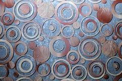 Abstrakcjonistyczny 3D tło w postaci round drewnianych produktów Zdjęcie Stock