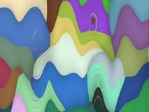 Abstrakcjonistyczny dekoracyjny artystyczny ruch Obrazy Stock
