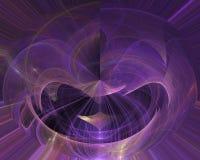 Abstrakcjonistyczny dekoracyjny falowy fractal, miękki magiczny szablonu projekt, zawijas royalty ilustracja