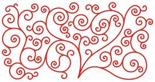 abstrakcjonistyczny dekoracyjny ornament Zdjęcie Stock