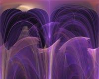 Abstrakcjonistyczny dekoracyjny skutek fali fractal, miękki magiczny szablonu projekt, zawijas ilustracja wektor