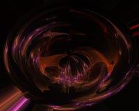 Abstrakcjonistyczny dekoracyjny skutek fali fractal, projekt, zawijas royalty ilustracja