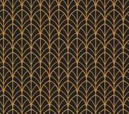 abstrakcjonistyczny deseniowy bezszwowy wektor Art Deco Projektuje tło geometryczna tekstura royalty ilustracja