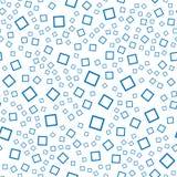 abstrakcjonistyczny deseniowy bezszwowy wektor Błękitów kwadraty na białym tle Zdjęcie Royalty Free