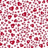 abstrakcjonistyczny deseniowy bezszwowy wektor czerwony białe tło serc Obrazy Royalty Free