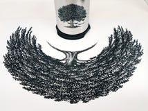 Abstrakcjonistyczny do góry nogami drzewo ilustracji