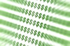 abstrakcjonistyczny dolarowy znak Zdjęcia Royalty Free