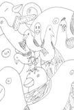 abstrakcjonistyczny doodle Obrazy Royalty Free