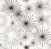 Abstrakcjonistyczny doodle gra główna rolę bezszwowego wzór Obraz Stock
