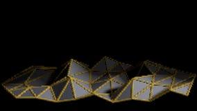 Abstrakcjonistyczny dotty poligonalny tło Kolor siatki forma Technolog Fotografia Stock