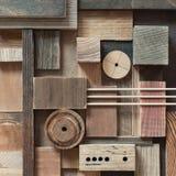 Abstrakcjonistyczny drewnianego bloku tło Obraz Stock