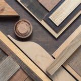 Abstrakcjonistyczny drewnianego bloku tło Zdjęcia Stock