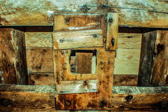 Abstrakcjonistyczny drewnianego bloku wzór Fotografia Stock