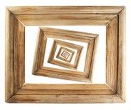Abstrakcjonistyczny drewniany obrazek ramy skład Fotografia Royalty Free