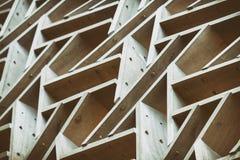 Abstrakcjonistyczny Drewniany tło wizerunek Z Dołączać deskami fotografia royalty free