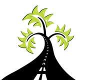abstrakcjonistyczny drogowy drzewo Obraz Stock