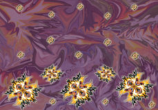 Abstrakcjonistyczny druk, tło, fractal Obraz Stock