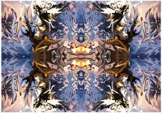 Abstrakcjonistyczny druk, tło, fractal Zdjęcia Royalty Free