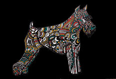 Abstrakcjonistyczny druk, tło pies, symbol rok Fotografia Stock