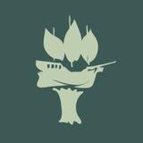Abstrakcjonistyczny drzewny statek Fotografia Royalty Free