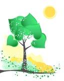 abstrakcjonistyczny drzewo Obrazy Royalty Free