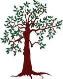 Abstrakcjonistyczny drzewo Ekologii pojęcie z drzewem Obraz Stock