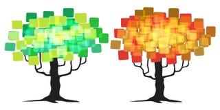 Abstrakcjonistyczny drzewo - graficzny element Obraz Stock