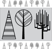 Abstrakcjonistyczny drzewo ilustracja Fotografia Royalty Free