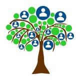 Abstrakcjonistyczny drzewo z ludźmi lub biznesmen ikonami ilustracja wektor