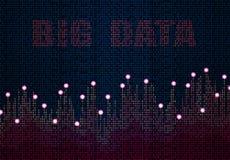 Abstrakcjonistyczny duży dane wykres Infographic projekt Digital pole w kolorze ilustracja ilustracji